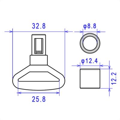 Plastic Shock Cord Hook Buckle-A6C