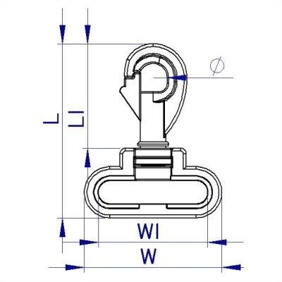 聚鴻-背包織帶調整用塑膠彈簧鉤扣具-a8
