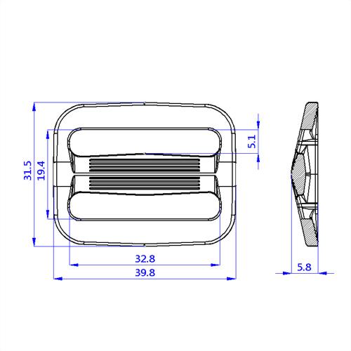塑膠日型織帶調整環-B1A