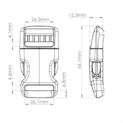聚鴻-塑膠高拉力弧形彎插扣-S22A