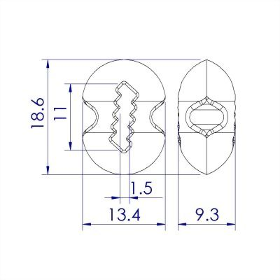 聚鴻-塑膠繩尾束扣-C105