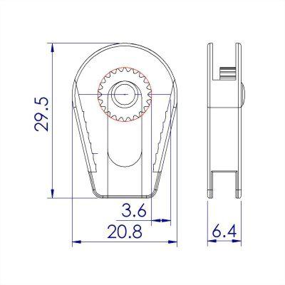 聚鴻-塑膠齒輪束繩調節扣-C19