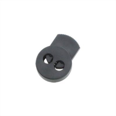 聚鴻-雙孔圓扁塑膠束繩調整扣-C22