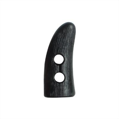 聚鴻-塑膠牛角繩扣-直線紋-C32