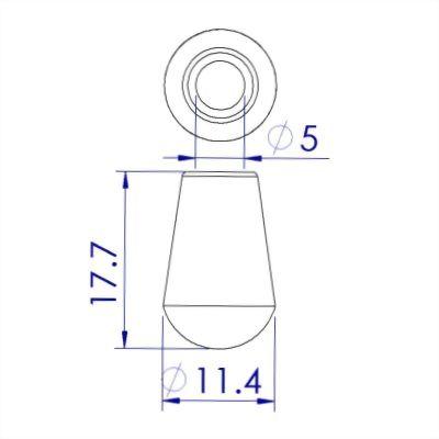 聚鴻-塑膠水滴型雨衣繩尾扣-C38A