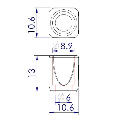 ji-horng-plastic-square-bell-cord-end-lock-C41
