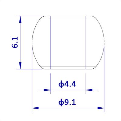 聚鴻-塑膠圓珠繩擋-C45E