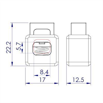 聚鴻-塑膠方型繩扣-C8