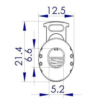 聚鴻-塑膠手榴彈束繩扣-C88
