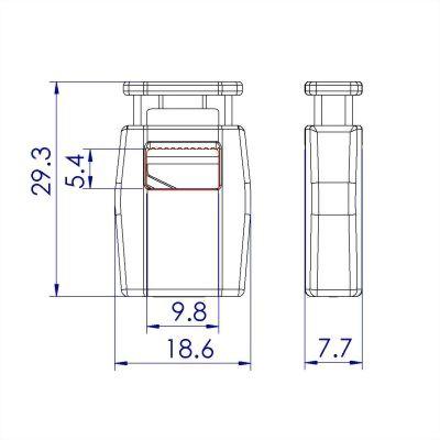 聚鴻-塑膠方型繩扣-C9