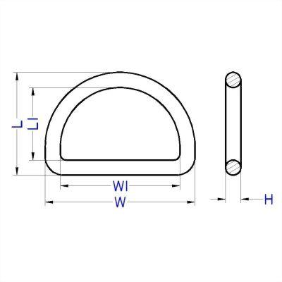 聚鴻-塑膠D型環-D3