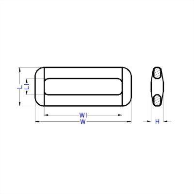 聚鴻-窄版塑膠長方形環-L3