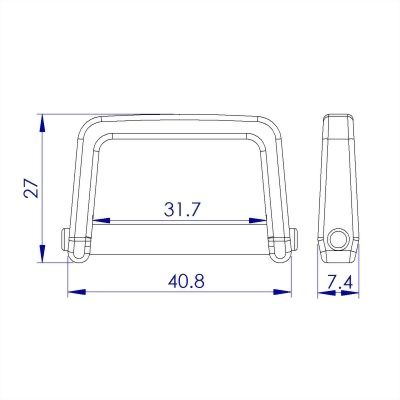 聚鴻-塑膠長方圈-L4