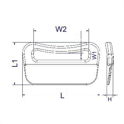 聚鴻-可縫塑膠長方環-L6
