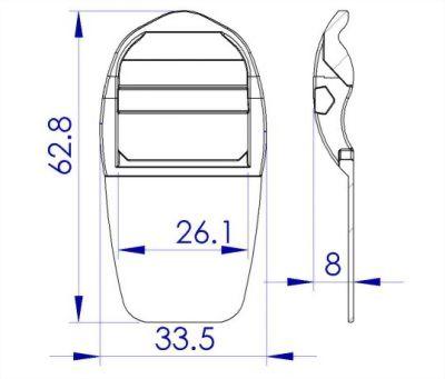 聚鴻-可縫塑膠目字調整扣-T3