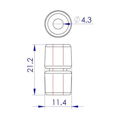 聚鴻-塑膠證件套掛繩扣-S12