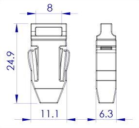 ji-horng-plastic-badge-holder-side-release-lanyard-buckle-S13