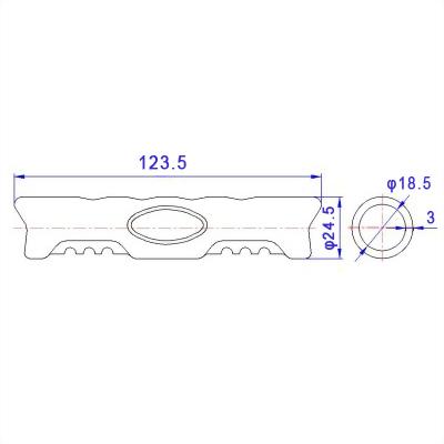 Ji-Hrogn-plastic-handle-tube-without-webbing-P921H