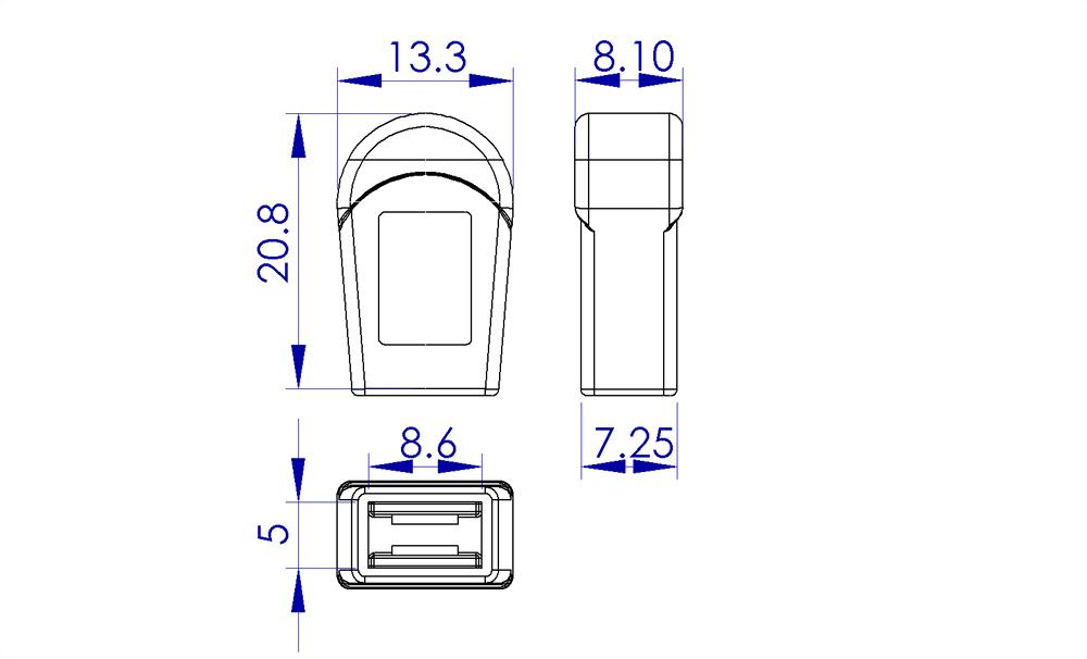 聚鴻-塑膠拉鍊頭-AC02-1