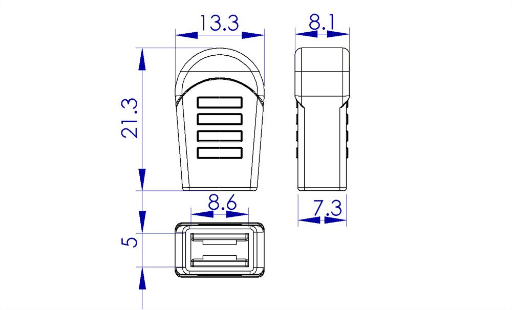 聚鴻-塑膠拉鍊頭-AC02