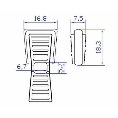 聚鴻-塑膠拉鍊頭-AC04