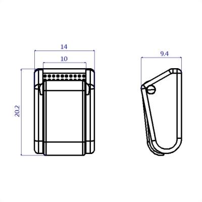 聚鴻-塑膠拉鍊頭-AC09