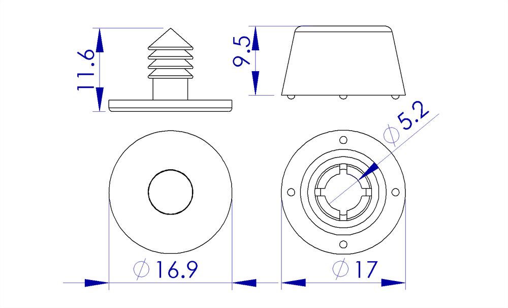 jh-bag-bottom-two-parts-plastic-stud-#6