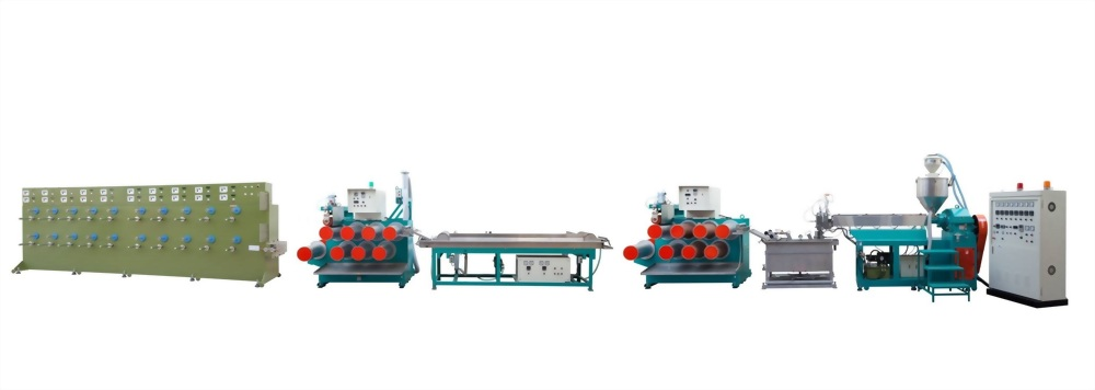 PP/PE rope and danline extrusion line