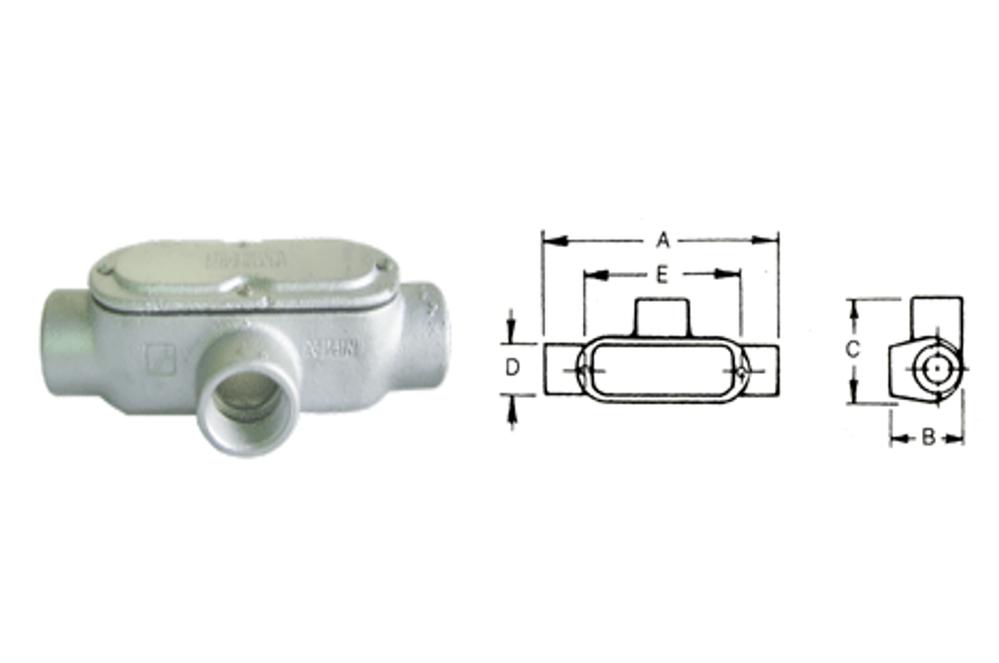 T型電管穿線匣、電管配件、穿線盒、電管管件、管件、接線盒