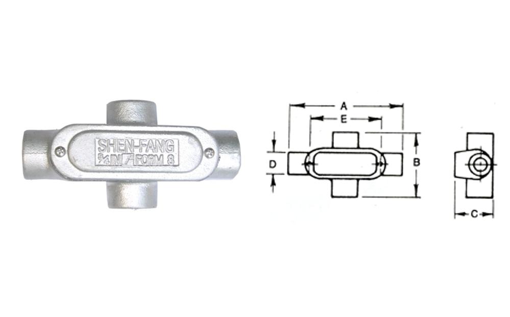 X型電管穿線匣、電管配件、穿線盒、電管管件、管件、接線盒