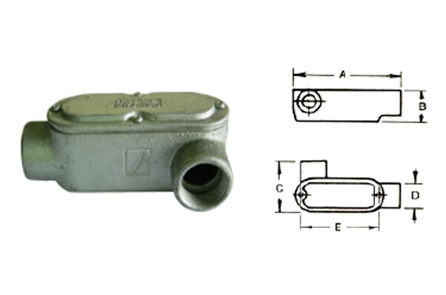 LL型電管穿線匣、電管配件、穿線盒、電管管件、管件