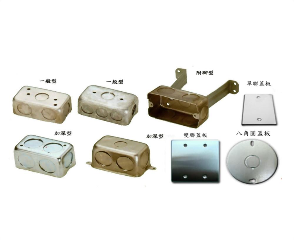 1P接線盒、蓋板、鋁製單聯接線盒 - 單聯接線盒