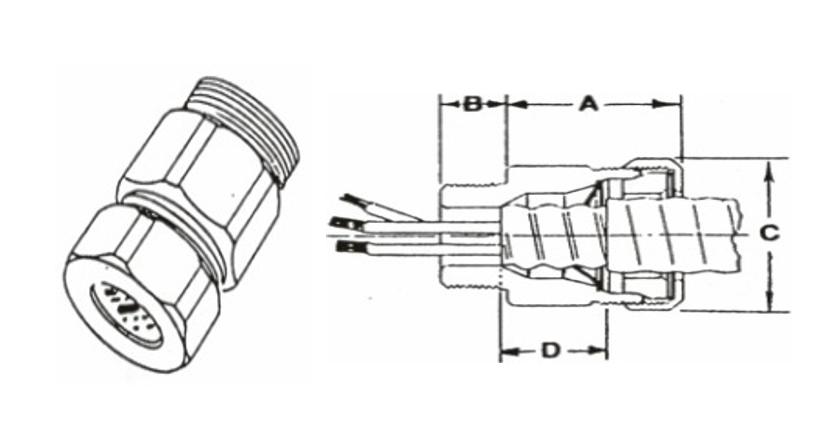 波管電纜接頭MCJ、電管配件、穿線盒、電管管件、管件、接線盒、防爆、防爆管件、電線管件