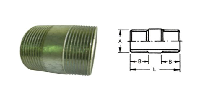 外丝短管 - 电管管件