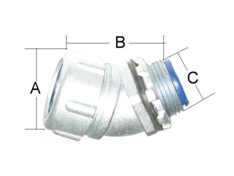 防水軟管用45。防水盒接頭、P型管夾、電管管夾、電管管夾、電管角鐵、槽鐵、防爆管件、電管管件、電管、電線導管、接頭、電管配件、穿線盒、電管管件、電管
