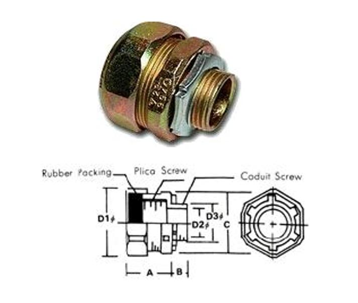 WATERPROOF UNION BOX CONNECTOR FOR PLICA-WBG, fitting,connector,fitting,conduit fitting,shenfang