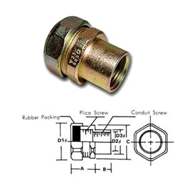 WATERPROOF UNION CONDUIT CONECTOR FOR PLICA PV5-WUG, fitting,connector,fitting,conduit fitting,shenfang