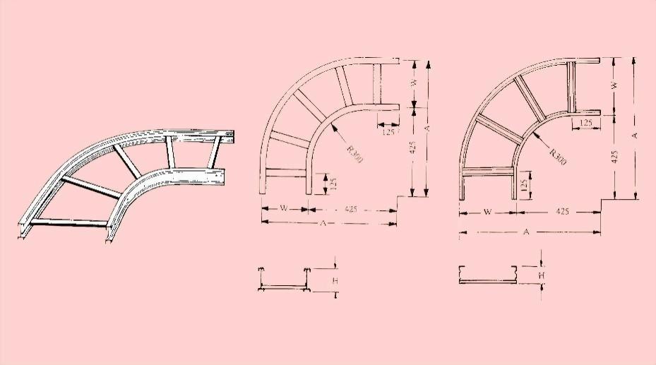 水平90度彎接頭(圓角型) - 電纜線架- 電纜線架、電管管件、電管、電線導管、接頭、電管配件、穿線盒、電管管件、電管