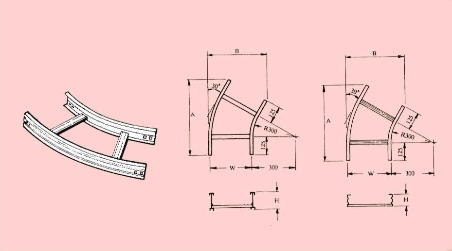 水平30度彎接頭 - 電纜線架- 電纜線架、電管管件、電管、電線導管、接頭、電管配件、穿線盒、電管管件、電管