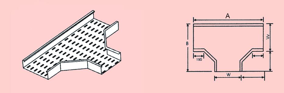 水平T型接頭 - 電纜線槽、電管、電線導管、接頭、電管配件、穿線盒、電管管件、電管