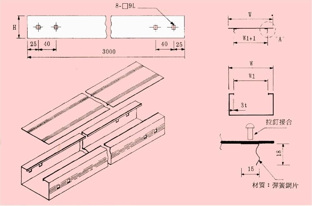 直式日光灯电缆线槽