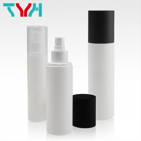 PE Round Shape Plastic Bottle in Soft touch design