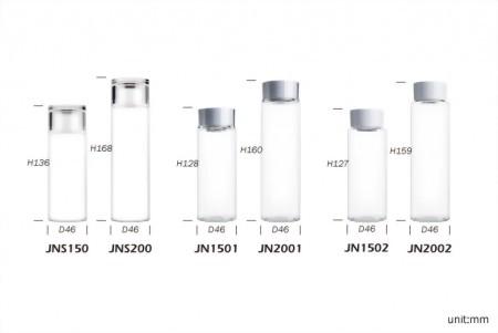 單層圓柱形乳液瓶+雙層圓形乳霜罐