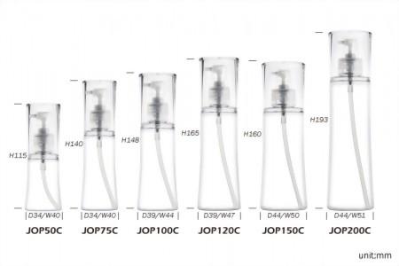 單層曲線乳液瓶+雙層曲線乳霜罐