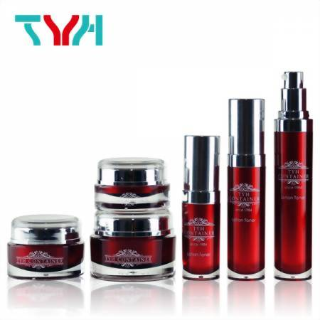 TYH Container Good Plastic Bottle Shapes and Round Cosmetic Jar with Spatular