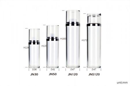 雙層圓柱形乳液瓶+雙層直蓋曲線乳霜罐
