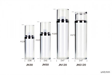 Double Wall Cylindrical Lotion Bottles & Cream Jars from Cosmetic Packaging Factory