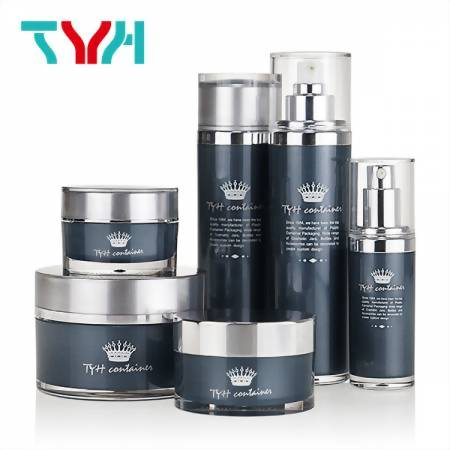 TYH Container Good at Cosmetics Containers with Spatular and Plastic Liquid Container Shapes