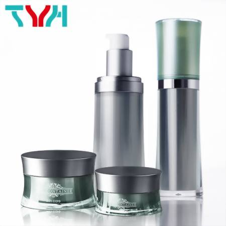 TYH Container Oval Shaped Bottle and Transparent Cosmetic Jar Manufacturers