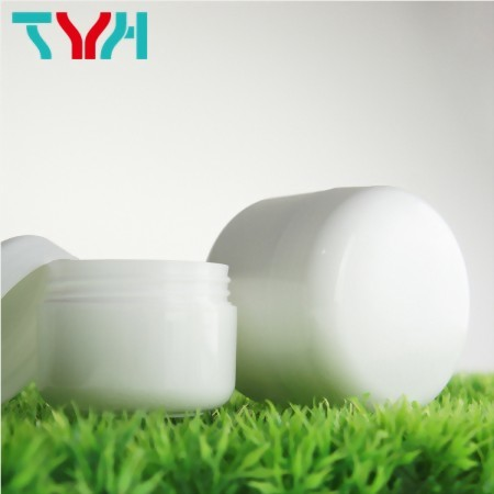 Round Jar in Double Layer for Personal Care and Haire Care Products